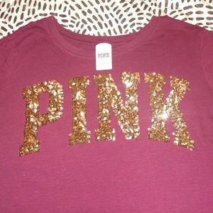 PINK sequins shirt Victoria Secret